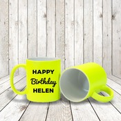 Fluorescent Yellow Mug